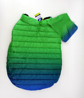 NWT TOP PAW Dog Ombre Puffer Pet Jacket XLarge XL Green Blue Jacket Bag - NEW!