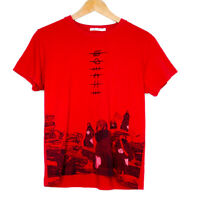 Uniqlo x Naruto Akatsuki Graphic Womens Red T-Shirt Size Small