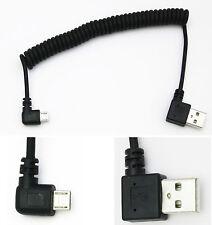 Angolo retto maschio micro USB della molla avvolta Dati Cavo Di Ricarica 5 Pin angolato