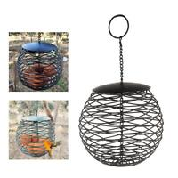 Hollow Metal Bird Feeder Fat Suet Ball Holder Feeding Station For Wild Birds