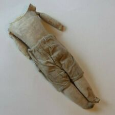 """Antique German 18"""" Doll Body Kid Leather Jointed Sawdust Filled for Restoration"""