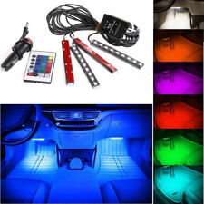 4x9 LED Color Car Charge Interior Floor Decor Atmosphere Lamp Light Sound Active