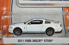FORD SHELBY GT500 MUSTANG 2011 WHITE GREENLIGHT MUSCLE SERIES 9 13090 1:64 NEW