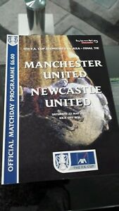 1999 FA Cup Final Programme Manchester United v Newcastle United