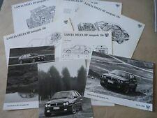 1989 LANCIA DELTA HF INTEGRALE Presse info et Photos Brochure Prospekt Catalogue