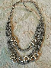 ASOS Multi Row Chain Necklace In Silver