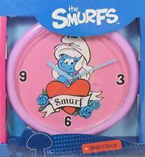 The Smurfs Wall Clock Surfette Tattoo Girl Pack of 2 Clocks