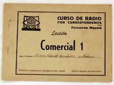 Curso de radio por correspondencia. Lección Comercial 1. Fernando Maymó