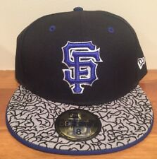 San Fransisco Giants Elephant Print MLB New Era 59Fifty Fitted Hat Size 8
