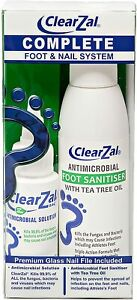 ClearZal Complete - Foot and Nail Kit - Kills Fungus, Bacteria and Viruses