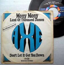 AXE German HARD ROCK band 45 MONY MONY LAND OF THOUSAND DANCES MCA ps e8451