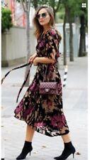Velvet Floral Wrap Dresses