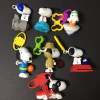 Lot of 7 Peanuts Snoopy McDonald's Happy Meal Toys Comic Strip Character (A)