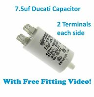 HOOVER VTC 5911NB-80 VTC 591BB-80 Tumble Dryer Ducati Capacitor 7.5UF