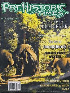 RARE #67 Issue Prehistoric Times dinosaur magazine PT OOP, Not sold anymore.