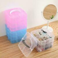 3 Layer Plastic Jewelry Bead Storage Box Container Case Organizer J4O3