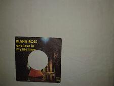Diana Ross -One Love In My Lifetime / Smile - Copertina Forata Per Disco Vinile