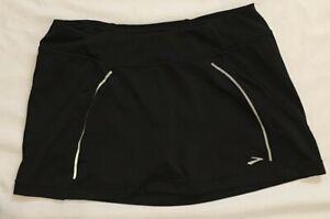 Brooks Women's Athletic Size M Skort Running Tennis Golf Skirt Shorts Black