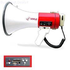 Megaphone Microphone Speaker Crowd Control Siren Outdoor Rechargeable