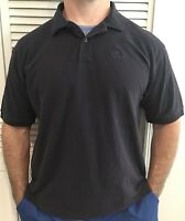 Izod Silk Wash Shirt Men's XL Cotton Logo Embroidered Navy Blue Polo Casual S/S