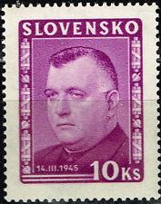 Slovakia WW2 War Leader Jozef Tiso 1943 MNH