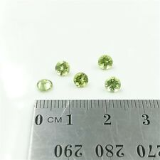 LOOSE PERIDOT GEMSTONES x5 - 4.5mm Round Faceted Cut Natural Peridot - Free Post
