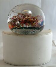 Lovely Workmanship Etched Antique 1800s Victorian Hand Blown Paperweight EXC!