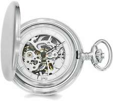 Swingtime Chrome-finish Brass Mechanical 42mm Pocket Watch
