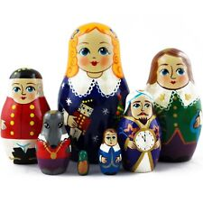 Matryoshka Nutcracker and Mouse King Russian Nesting Dolls Babushka 7 Pcs