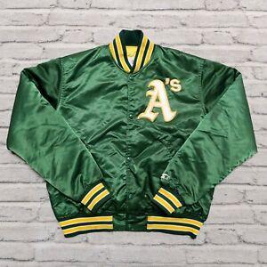 Vintage 90s Oakland Athletics A's Satin Jacket by Starter Size L