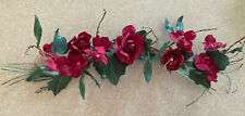 """*Home Interior Small """"Red Roses"""" Floral Wall Swag - approx 16"""""""