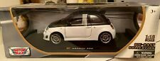 Fiat Abarth 500 White/Black 1/18 Diecast Car Model by Motormax FACTORY SEALED