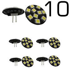 10x G4 Base LED COOL WHITE Light Bulb 5050 SMD 3W 12V DC Bi-Pin Lamp for Boat RV