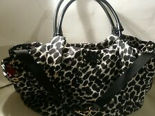 Kate Spade  Black & White patent Leather Canvas Tote & Baby Diaper Bag!