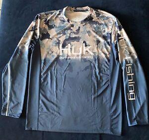 Huk Performance Fishing Long Sleeve Shirt Size extra Large
