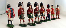 Quiralu Lot 8 soldats garde royale écossaise Scottish royal guard métal ancien