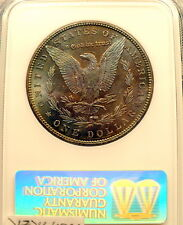 1886-P MORGAN SILVER DOLLAR NGC MS 63 AWESOME TONING, COMPLEX COLORS NICE++ B384