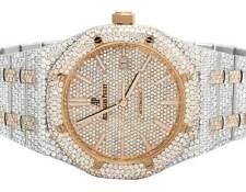 Mens 41 MM Audemars Piguet Royal Oak 2 Tone Rose Gold with 35.5 Ct Diamond watch
