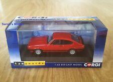Corgi Vanguards - Ford Capri Mk3 2.8i Special, Rosso Red, Ltd.Ed 1000 - 1/43 NEW