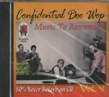 CONFIDENTIAL DOO WOP - CD - Vol. 9 - Music To Remember - BRAND NEW