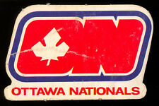 1972 73 OPC O PEE CHEE WHA HOCKEY Ottawa Nationals Team Logo Punched Emblem