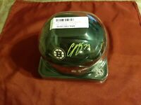 CHARLIE MCAVOY FANATICS AUTHENTIC AUTOGRAPED BLACK MINI HELMET W/SHELD *BRUINS*