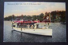 RAVENSWOOD White Lake, Michigan P.O. Montague, vintage postcard, postmarked 1908