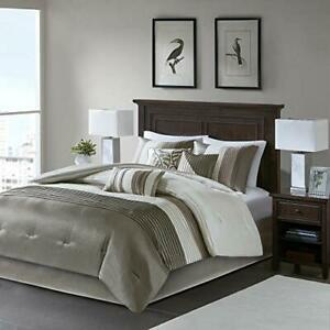 Madison Park Amherst Faux Silk Comforter Set-Casual Contemporary Design All S...