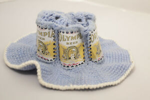 Olympia - Crocheted Beer Can Hat  Vintage Cap  Breweriana