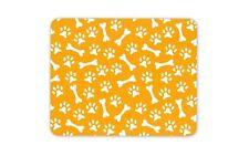 Orange Paw Prints Mouse Mat Pad - Dog Cat Mum Sister Aunty Gift Computer #13212