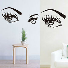 75×33cm Removable Art Vinyl Quote Women Beauty Eyes Home Wall Sticker Mural Room