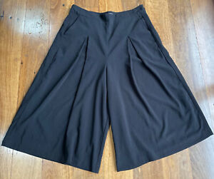Seed black wide leg culottes with pockets - size 14
