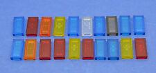 LEGO 20 x transparente Fliesen 1x2 blau gelb orange rot | tile tiles 30070