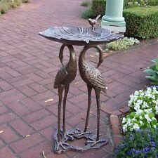 Oakland Living 5608-AB Two Crane Lily Bird Bath